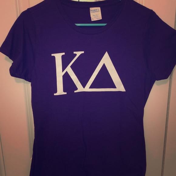Comfort Colors Tops - Purple Kappa Delta t-shirt